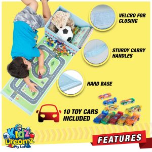 toy car storage box features